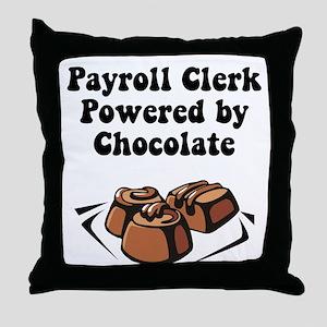 Payroll Clerk Throw Pillow