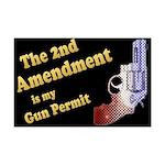 2nd Amendment Gun Permit Mini Poster Print