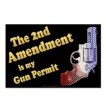 2nd Amendment Gun Permit Postcards (Package of 8)