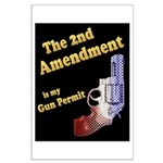 2nd Amendment Gun Permit Large Poster