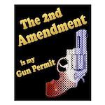 2nd Amendment Gun Permit Small Poster