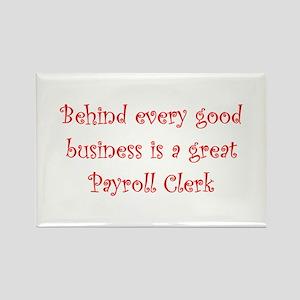Payroll Clerk Rectangle Magnet (10 pack)