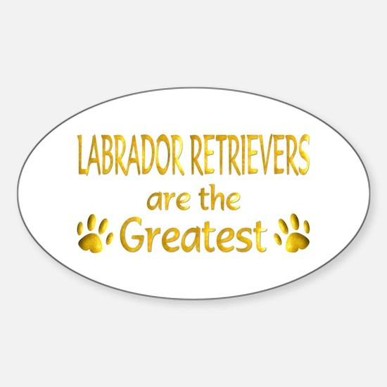 Labrador Retriever Oval Decal