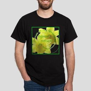 Rejoice, Multi Languages Dark T-Shirt