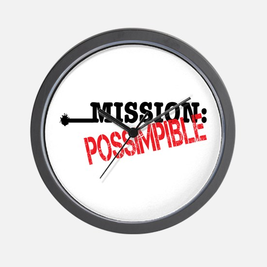 Mission Possimpible Wall Clock