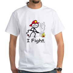 BusyBodies Firefighter White T-Shirt