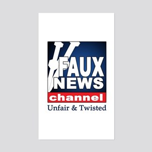 Faux News Channel Rectangle Sticker
