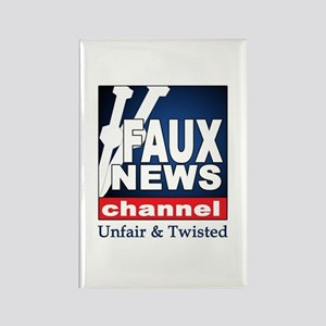 Faux News Channel Rectangle Magnet