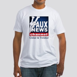 Faux News Channel Fitted T-Shirt