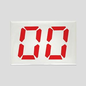 00 Zero Zero Nil Nil Rectangle Magnet