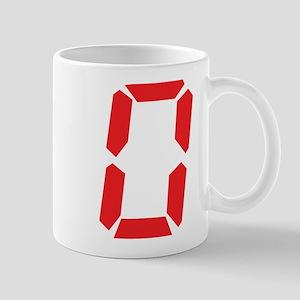 0 Zero alarm clock number Mug