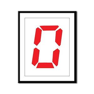 0 Zero alarm clock number Framed Panel Print