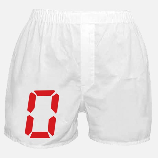 0 Zero alarm clock number Boxer Shorts