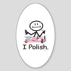 Manicurist Oval Sticker