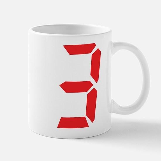 3 three red alarm clock numbe Mug