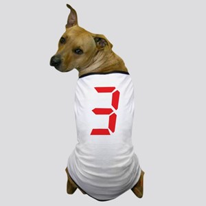 3 three red alarm clock numbe Dog T-Shirt