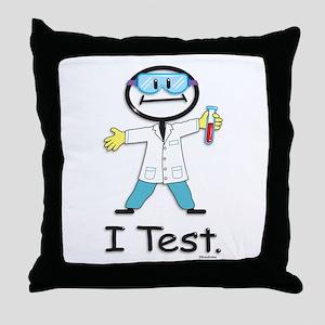 Medical Lab Tech Throw Pillow