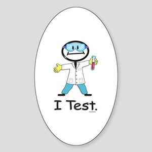 Medical Lab Tech Oval Sticker