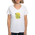 Fun Women's V-Neck T-Shirt: The heart that loves