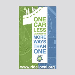 Ride Local One Car Less Sticker