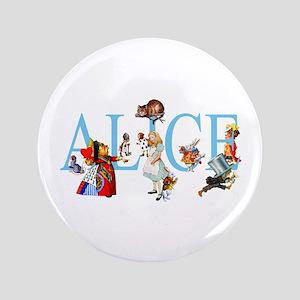 """ALICE & FRIENDS 3.5"""" Button"""