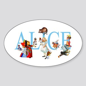 ALICE & FRIENDS Oval Sticker