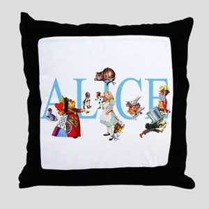 ALICE & FRIENDS Throw Pillow