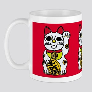 maneki neko lucky cat holiday Mug