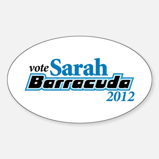 Sarah Barracuda 2012 Oval Decal