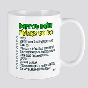 Parrot Things to Do List Mug