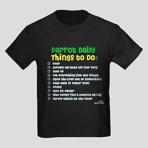 Parrot Things to Do List Kids Dark T-Shirt
