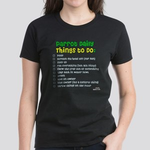 Parrot Things to Do List Women's Dark T-Shirt