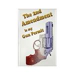 2nd Amendment Gun Permit Rectangle Magnet (100 pac