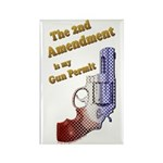 2nd Amendment Gun Permit Rectangle Magnet