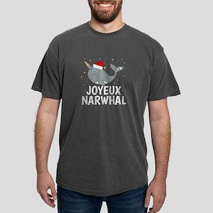 Cute Joyeux Noel Narwhal Kawaii Animal Chr T-Shirt