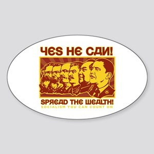 Spread the Wealth Oval Sticker