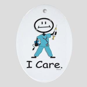 Nurse Oval Ornament