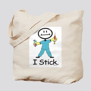 Stick Figure Phlebotomist Tote Bag
