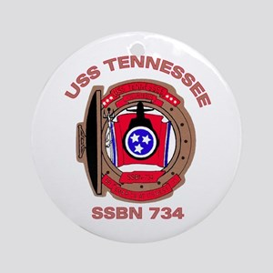 USS Tennessee SSBN 734 Ornament (Round)