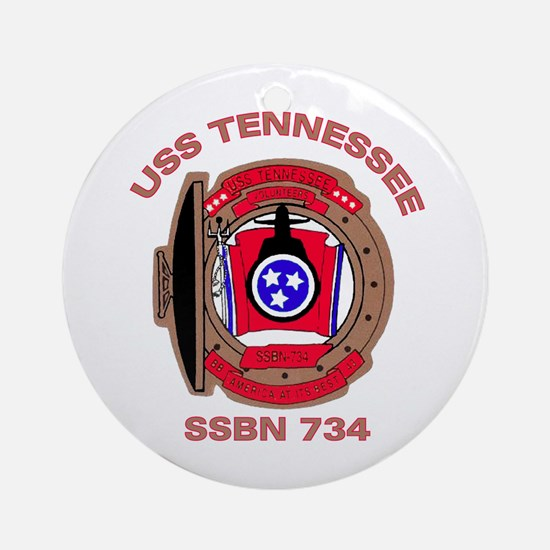 USS Tennessee SSBN 734 Ornament (Round)