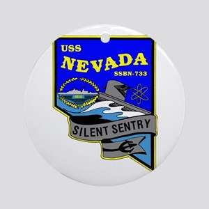 USS Nevada SSBN 733 Ornament (Round)