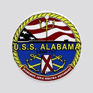 USS Alabama SSBN 731 Ornament (Round)
