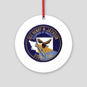 SSBN 730 USS Henry M Jackson Ornament (Round)