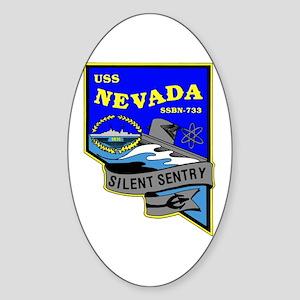 USS Nevada SSBN 733 Oval Sticker