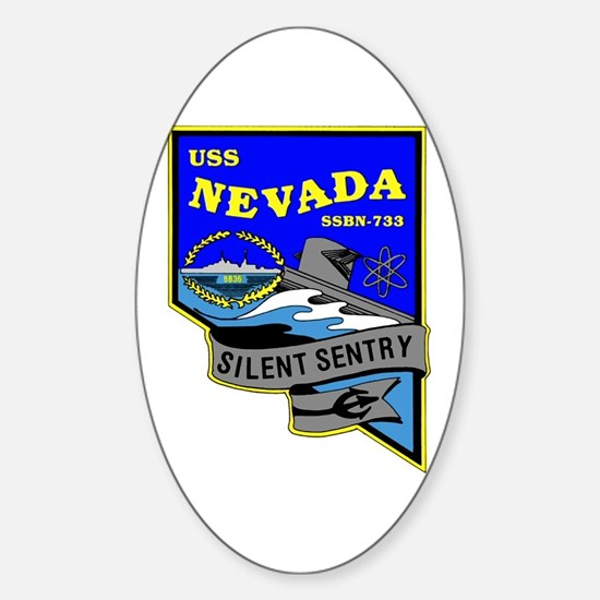 USS Nevada SSBN 733 Oval Decal