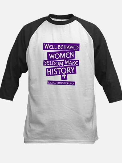 WELL-BEHAVED WOMEN Kids Baseball Jersey