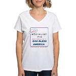 Anti-socialist Pig Women's V-Neck T-Shirt