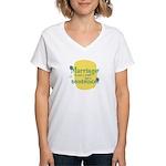 Fun Women's V-Neck T-Shirt: Marriage sentence