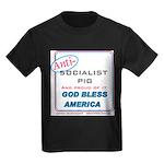 Anti-socialist Pig Kids Dark T-Shirt