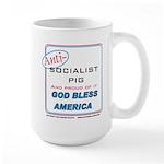 Anti-socialist Pig Large Mug